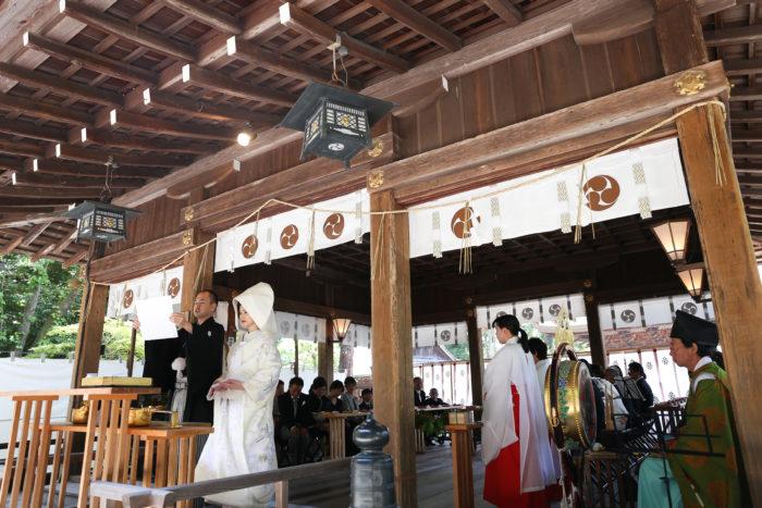 日牟禮八幡宮でのご結婚式