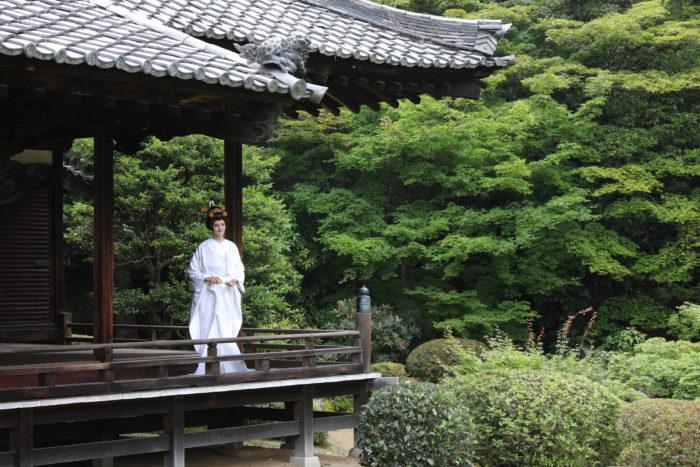 LST着物の撮影 京都結婚式